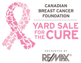 Calgary REMAX Willow Park yard sale for the cure canadian breast cancer foundation